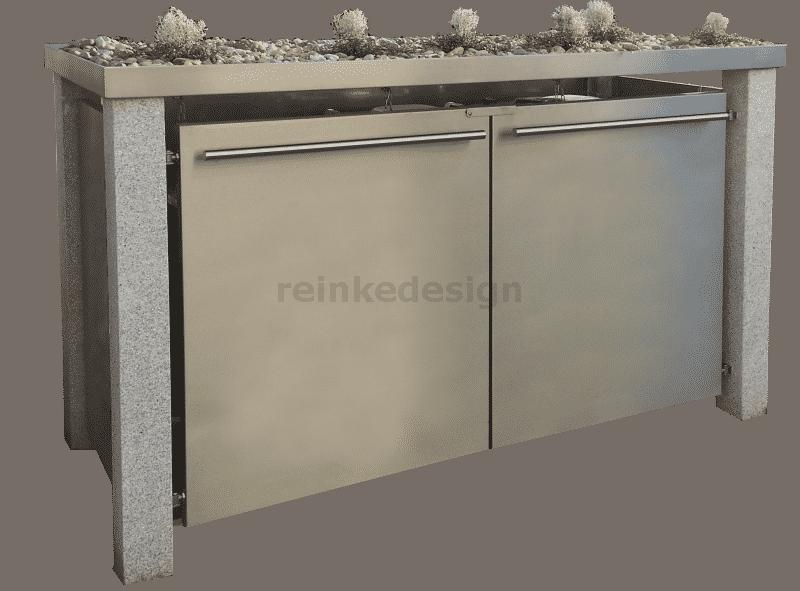 Mülltonnenbox mit Pflanzenwanne