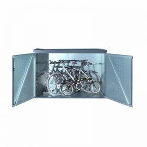 fahrradgarage metall als bausatz mit stahlverzinktem metall