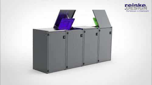schicke 4er Mülltonnenbox als Bausatz