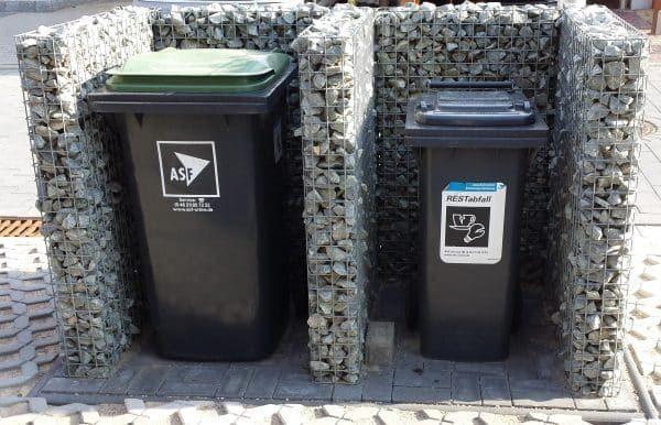 Gabione Mülltonnenverkleidung